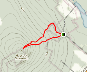Haycock Mountain via Top Rock Trail Map