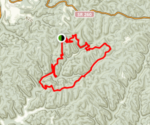 Archers Fork Trail Map