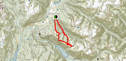 Russet Lake Map
