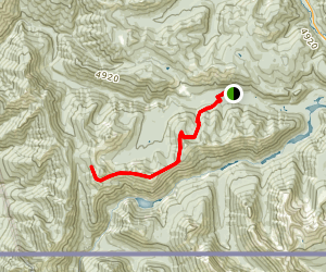 Lone Goat Mountain Via Skyline Trail Map