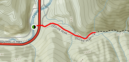 Olgive Peak Trail Map