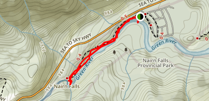Narin Falls Trail Map