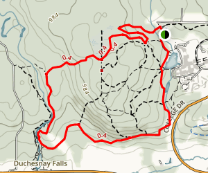 North Duchesnay Summit Trail to South Duchesnay Valley Trail Loop Map