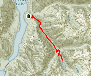 Lizzie Lake Trail Map