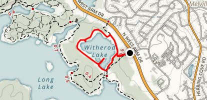 Witherod Lake Trail Map