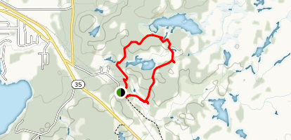 Voyageur Hiking & Cross-Country Ski Trails Map