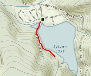Sylvan Lake Trail Map