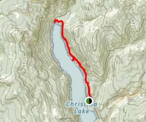 Christina Lake Via Deer Point Trail Map