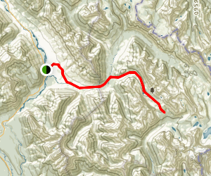 Simpson River Trail to and Surprise Creek Trail Map
