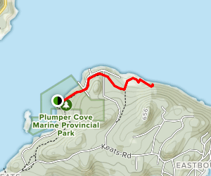 Plumpers Cove Trail Map