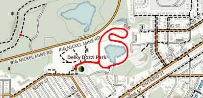 Delki Dozzi Cycling Track Map
