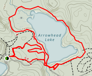 Arrowhead Lake Loop Trail Map