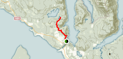 Sunshine Coast to Little Silammon Lake  Map