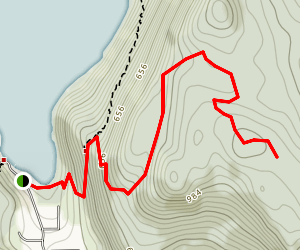 Eves Peak Trail Map