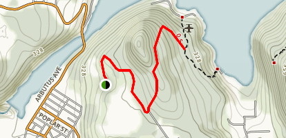 Valentine Mountain Trail Map