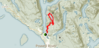 Inland Lake Trail from Mowat Bay Map