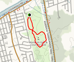 Moncton Golf and Country Club Trail Map