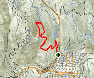 Miner's Trail to Upper and Lower Redhead Trail Loop Map