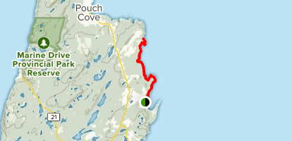 Stiles Cove Path: Flatrock Cove to Ferry Point Map