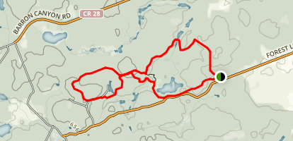 Pembroke and Area Cross Country Ski Club Loop Trail Map