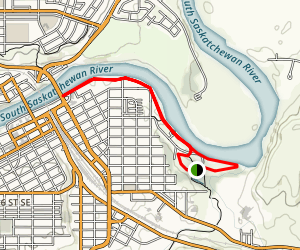 South Saskathewan River Shoreline Trail Map