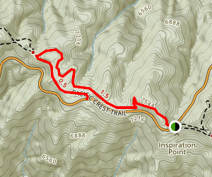 Inspiration Point and Grassy Hollow Map