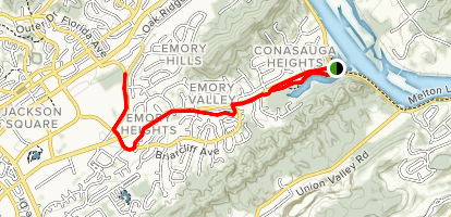 Emory Valley Greenway Map