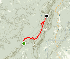 Pinhoti Trail:  Adam's Gap to Cheaha State Park Map