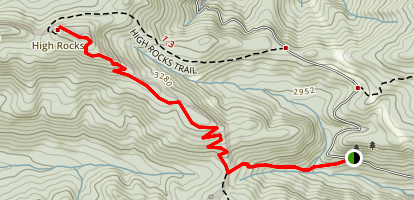 High Rocks Spur Trail Map