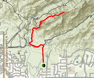 Blackett's Ridge Trail from Bear Canyon Map