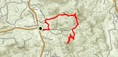 Ellie Lane Trail to Iron Mountain Map