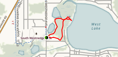 West Lake Wetland Walk and Bog Walk Map