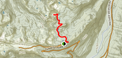 Hidden Lake Spur Via Palisades Lake Trail Map