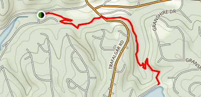 Pinion Creek to Brittany Dam Trail Map