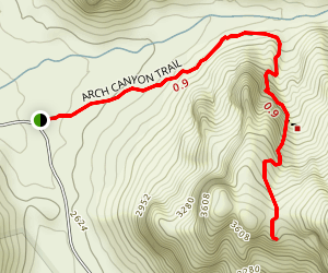 Arch Canyon Trail Map