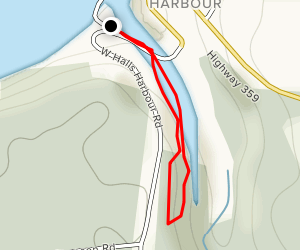 Halls Harbour Trail Map