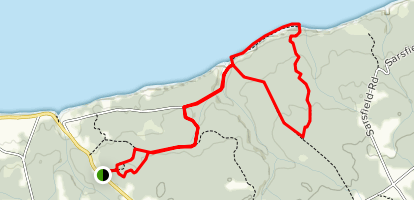 Black Rock and Bashor Road Trail Loop Map