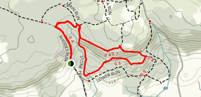 Stone Trail, Leatherman Link, and Loop Off Run Trail Map