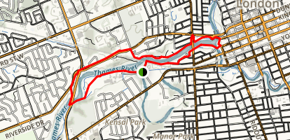 Thames River Walk Loop Map