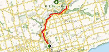 Lower Don-Recreation Trail Map