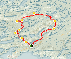 La Cloche Silhouette Trail  Map