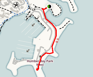 Humber Bay Park Trail Map