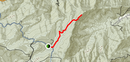 Crabtree Meadows to Pinnacle Rocks Map