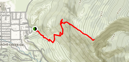 Crystal Butte Trail Map