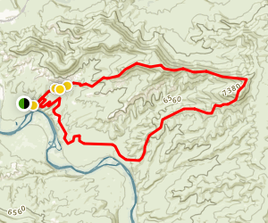 Wilkins Peak Trails Map