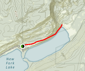New Fork Lake Trail Map