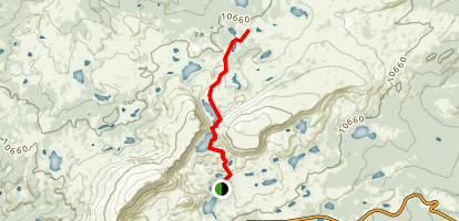 North Gap Lake Trail Map