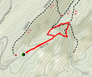 Peavine Falls Short Loop Map