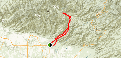 Hutch's Pool Loop Trail Map