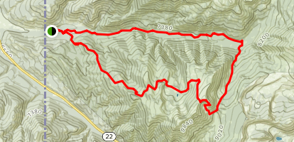 Taylor Mountain Loop Trail Map